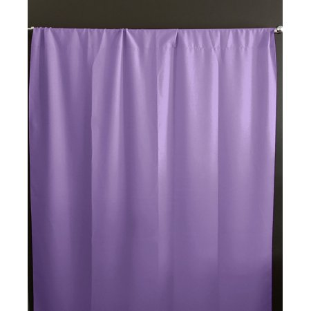 Solid Poplin Window Curtain or Photography Backdrop Lavender