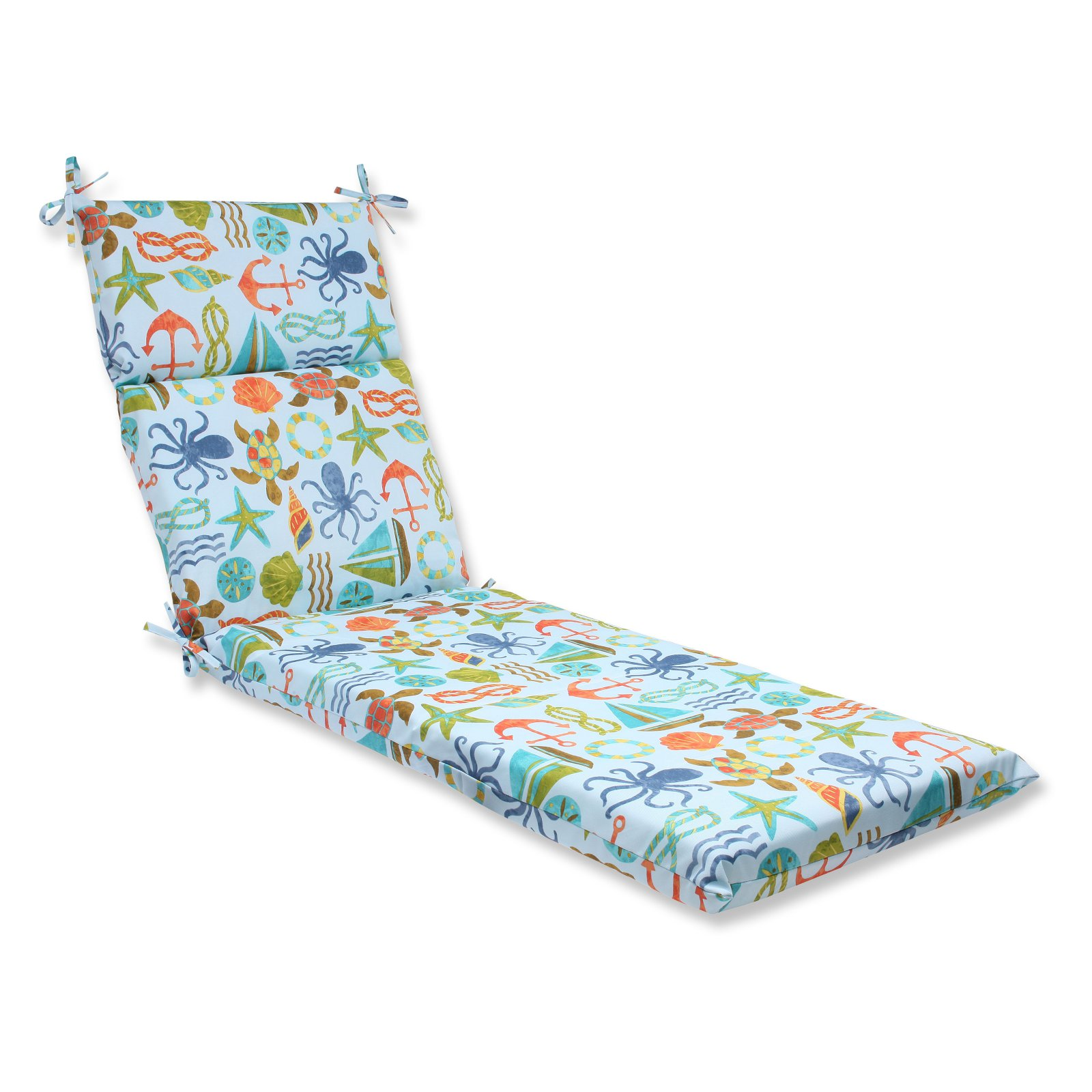 Pillow Perfect Outdoor  Indoor Seapoint Neptune Chaise Lounge Cushion by Pillow Perfect