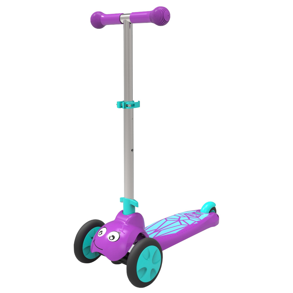 Scootie Bug 3-Wheel Folding Scooter, Red Lady Bug Spotty by National Sporting Goods