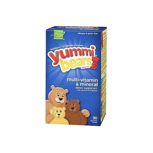 Hero Nutritional Yummi Bears  Multi-Vitamin & Mineral, 90 ea