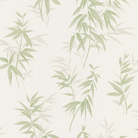 Brewster Oates Green Bamboo Leaf Texture Wallpaper