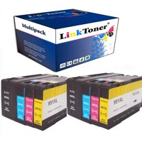 LinkToner 8pcs Compatible 950XL 951XL Combo 4 Color Pack Ink Cartridges Replacement for Printer OfficeJet Pro 8625,8630