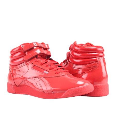 [CN2821] New Women's REEBOK Freestyle HI Patent Classic Sneaker - Primal Red