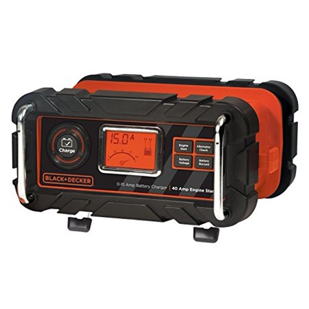 15 Amp Bench Battery Charger With Engine Start Timer By