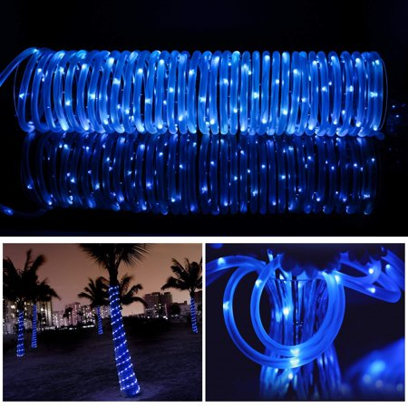 EEEkit Outdoor Solar String Lights, 33ft(10m) Solar Powered Waterproof LED Tube Light LED with Solar Panel for Outdoor Indoor Home Garden Patio Parties, Yellow (Solar Tube Lights)