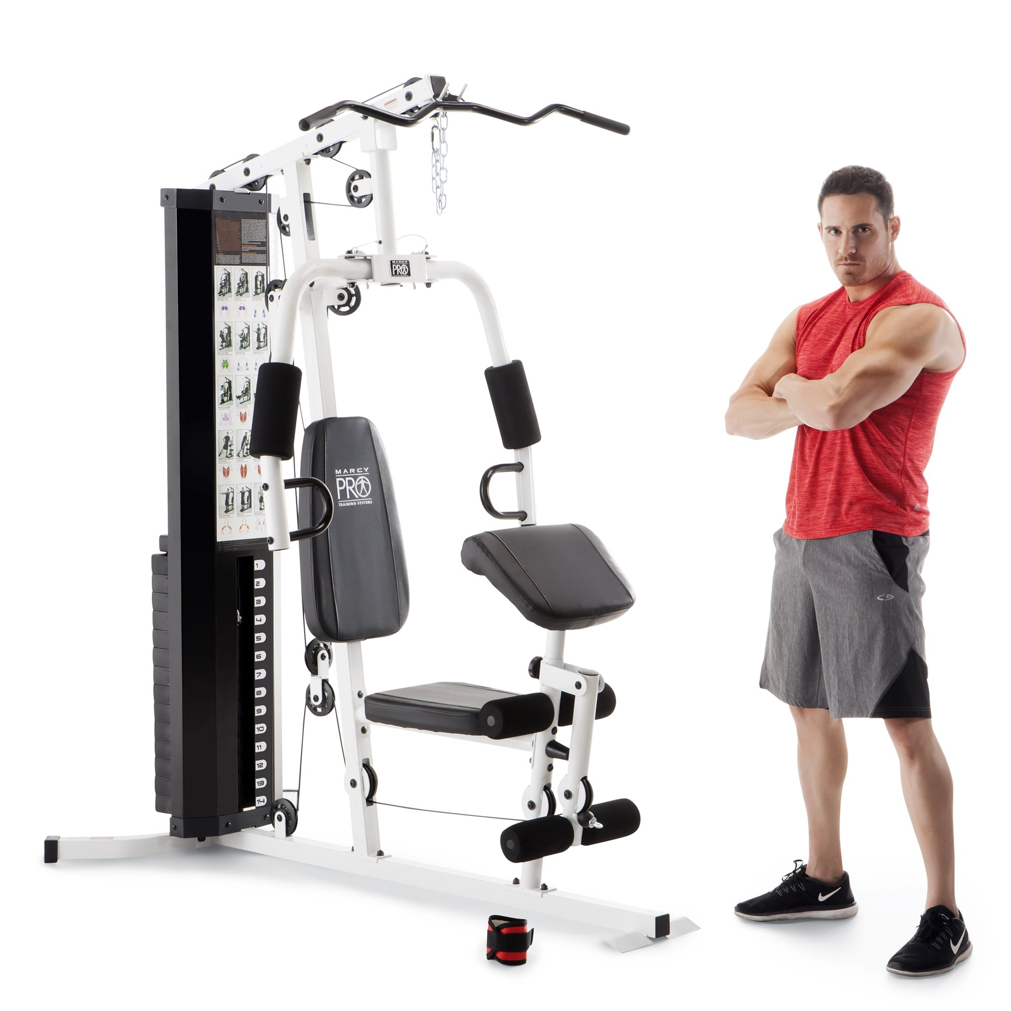 Marcy Dual-Functioning Upper Lower Body Fitness Workout 150-Pound Stack Home Gym