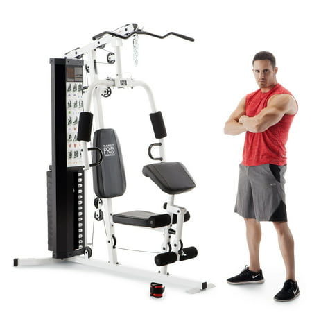 - Marcy Dual-Functioning Upper Lower Body Fitness Workout 150-Pound Stack Home Gym