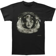 Marilyn Monroe Men's  Space Woman Slim Fit T-shirt Black