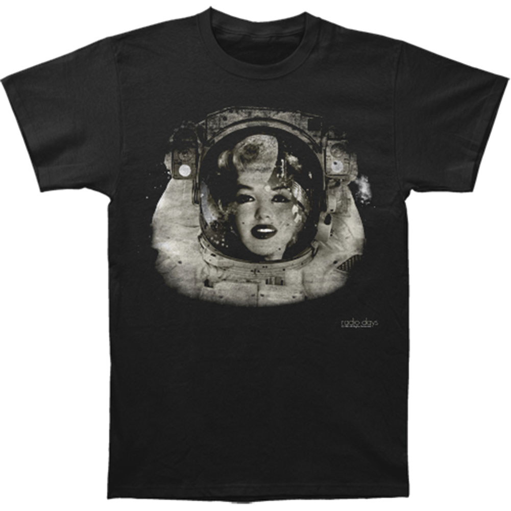 Marilyn Monroe Men's  Space Woman Slim Fit T-shirt Black