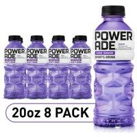 (16 Bottles) POWERADE Zero Grape, ION4 Electrolyte Enhanced Fruit Flavored Zero Sugar Zero Calorie Sports Drink, 20 fl oz