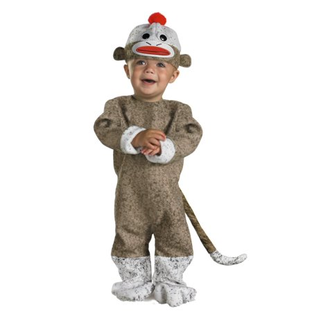 Disguise Infant & Toddler Boys & Girls Sock Monkey Costume 12-18 Months (Monkey Costumes For Girls)