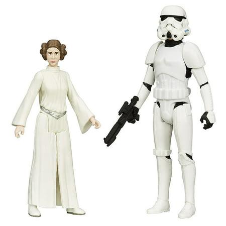 Luke Skywalker Stormtrooper Disguise - Star Wars Mission Series Luke Skywalker in Stormtrooper Disguise and Princess Leia Action Figures