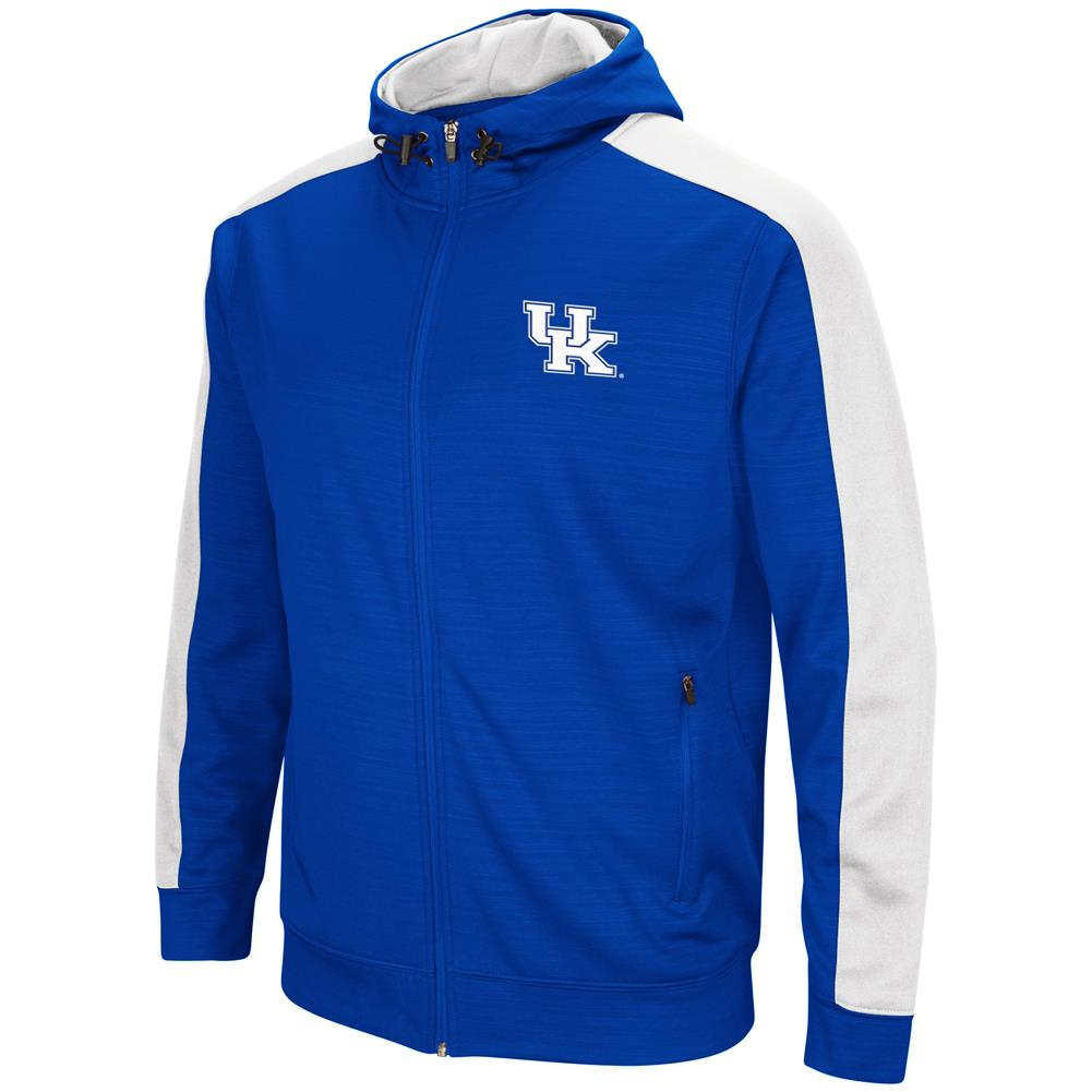 Kentucky Wildcats UK Performance Fleece Jacket Full Zip Hoodie by Colosseum