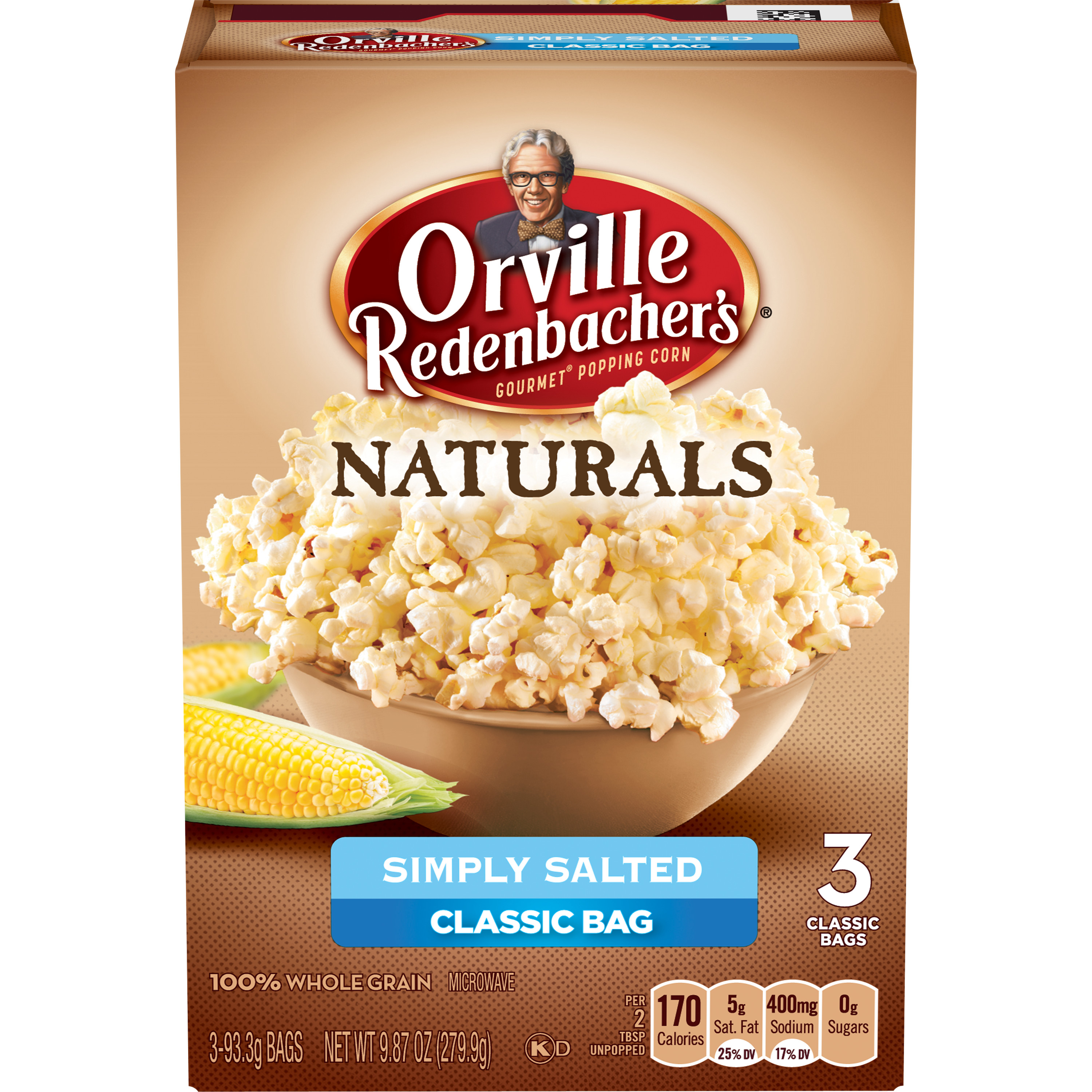Orville Redenbacher's Natural Simply Salted 3.3 Oz Microwave Popcorn, 3 Pk