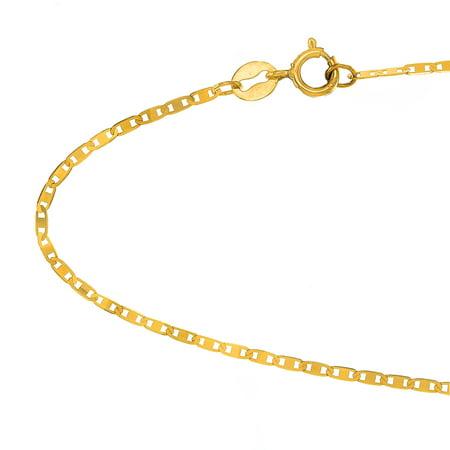 10k Solid Yellow Gold 1.2 mm Mariner Chain Bracelet - 7 Day Bracelet