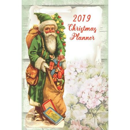Ultimate Christmas Planner - Happy Santa Organiser Christmas Shopping Tracker & Countdown Journal: Organiser Budgets Shopping Lists, Christmas Wish List Gift Card Address Book And Tracker, Flower Them ()