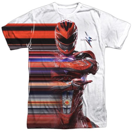 Power Rangers Red Streak Mens Sublimation Polyester Shirt (Power Rangers Suits)