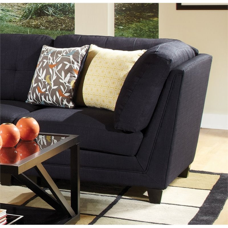 Coaster Keaton Sectional Corner Chair In Midnight Blue
