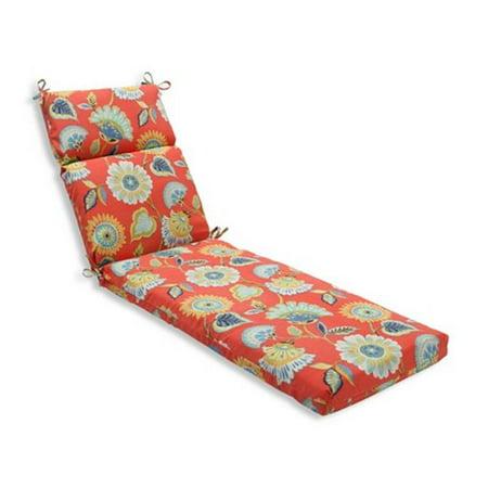 Pillow perfect 597645 indoor outdoor woodcourt pompeii chaise lounge cushion orange - Walmart lounge cushions ...