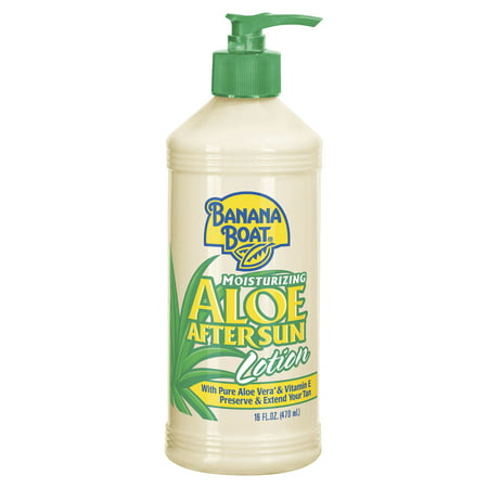 (2 pack) Banana Boat Moisturizing Aloe After Sun Lotion - 16 Ounces 0.5 Ounce Moisturizing Cream