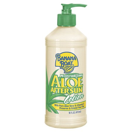 (2 pack) Banana Boat Moisturizing Aloe After Sun Lotion - 16 Ounces