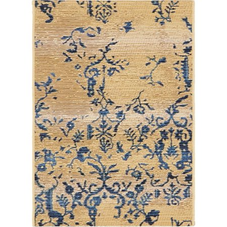 Unique Loom Ivy Outdoor Vintage Floral Area Rug or Runner