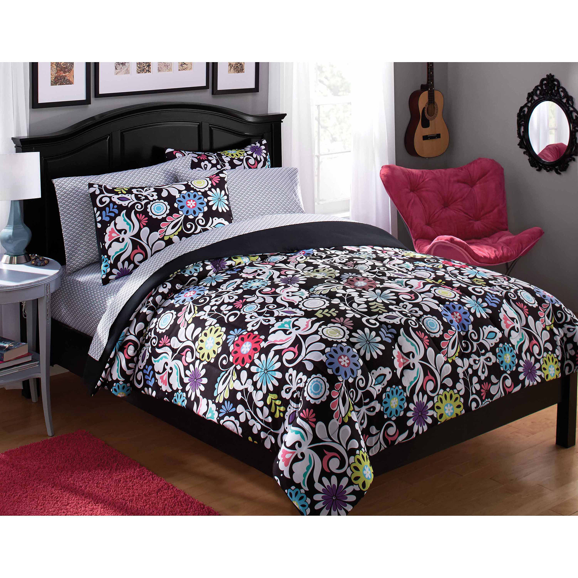 your zone paradise bed in a bag, black