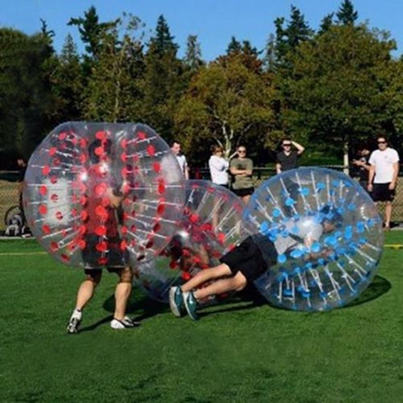 iMeshbean 1.5M 2pcs Inflatable Bumper Ball Body Zorbing Ball Zorb Bubble Soccer Football by
