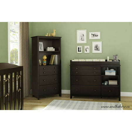 - South Shore Little Smileys Changing Table and Shelving Unit with Drawers