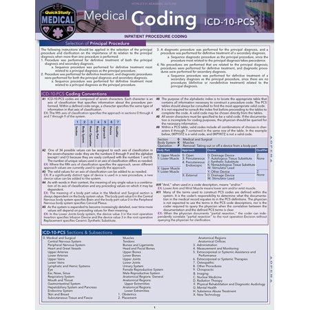 Medical Coding ICD-10-PCS : a QuickStudy Laminated Reference (Icd 10 Code For Mental Health Evaluation)