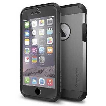 new arrival bec4f 7fc3f Refurbished iPhone 6 Case, Spigen [Tough Armor FX] Lock-In Screen Protector  [Gunmetal] Front Lock-In PET Film Screen Protector / Full Body P
