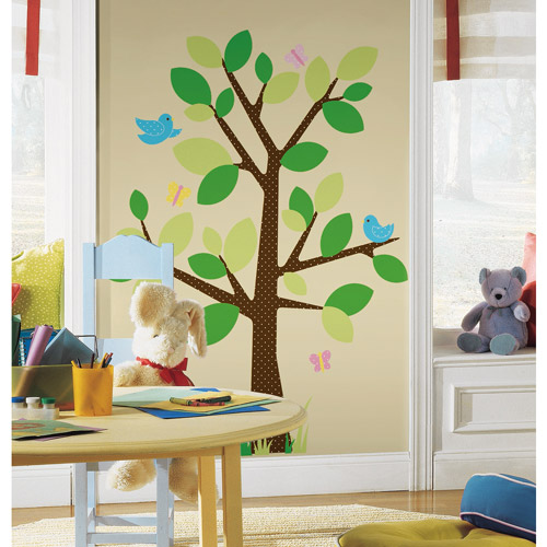 RoomMates   Peel U0026 Stick Wall Decal, Dotted Tree