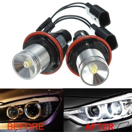2pcs LED Halo Ring Angel Eye Marker Side Light Bulb Lamp For  E39 E63 X5 E83 5 6 7 Series 02-08 Xenon HID 6000K White 6312694048 63126916097 MATCC US