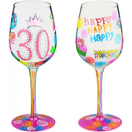 95 & Sunny Bottoms Up Wine Glass by