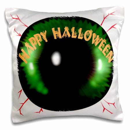 3dRose Scary Halloween Eyeball Greeting - Pillow Case, 16 by 16-inch (Halloween Eyeball Clip Art)