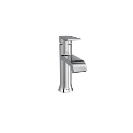 moen 6702 genta single handle centerset bathroom faucet with duralast valve technology and pop-up drain assembly