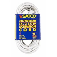 Satco 35 FT Outdoor White Extension Cord