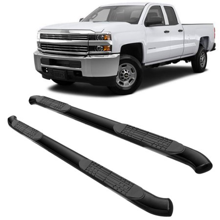 HURRISE 4 Inch Curved Side Steps Running Boards Bars for 05-18 TOYOTA TACOMA DOUBLE CAB BLK, Curved Side Bar, Curved Side Bar for 05-18 TOYOTA TACOMA DOUBLE CAB