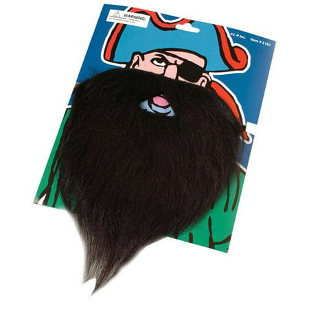 US Toy - Fake Pirate Beard Moustache, Multicoloured - Pirate Beard