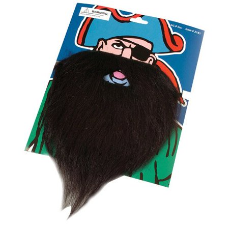 US Toy - Fake Pirate Beard Moustache, Multicoloured - Realistic Fake Beard