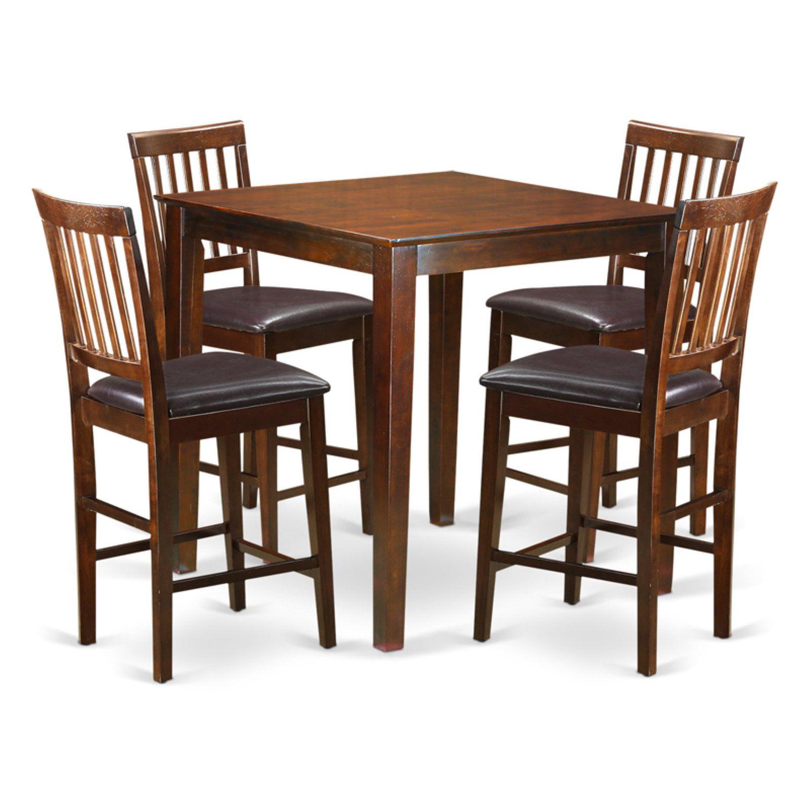 East West Furniture Vernon 5 Piece Slat Back Dining Table Set