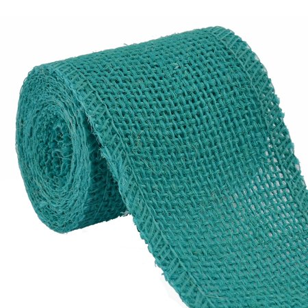 Unique Bargains 2.2 Yard Cyan Wedding Jute Belt Cord Rope Gift Tags String Wrap Strap Arts Craft Burlap Ribbon Roll