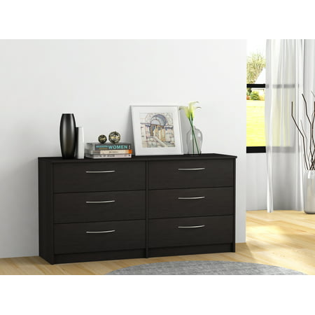 (Homestar Finch Collection 6-Drawer Dresser, Multiple Finishes)