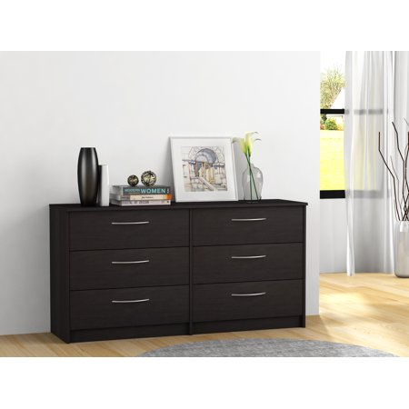 Homestar Finch Collection 6-Drawer Dresser, Multiple Finishes