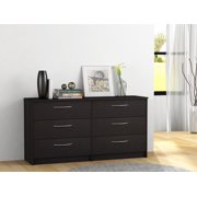 Homestar Finch Collection 6 Drawer Dresser Multiple Finishes