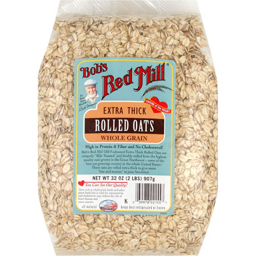 Bob's Red Mill Extra-Thick Whole Grain Rolled Oats, 32 oz (Pack of 4)