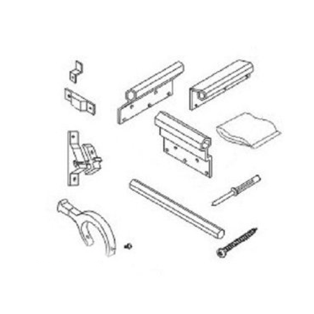 A Amp E Deluxe Rv Slide Out Awning White Mounting Brackets