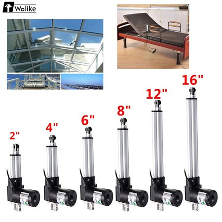Linear Actuator Stroke2-16 inch 12V 5mm/s 900 Pound Max Lift Heavy Duty Linear Actuator Stroke Linear Actuator Motor Door Opener 4000N / 900 Pound Max Lift Bracket Lift Heavy  12 V