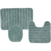 Mohawk Home Solid Stripe 3-Piece Nylon Bath Rug Set