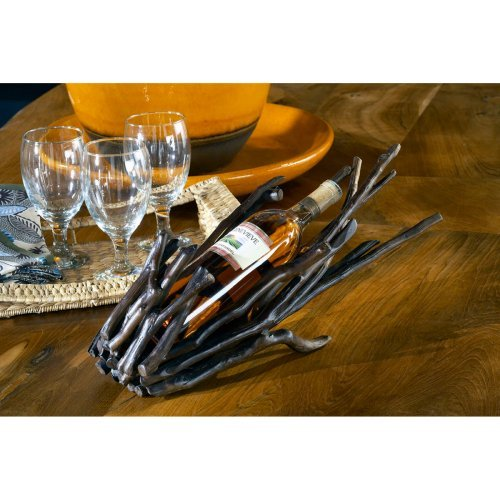 Groovystuff Antares Teal Branch Wine Stand - Chocolate Lacquer